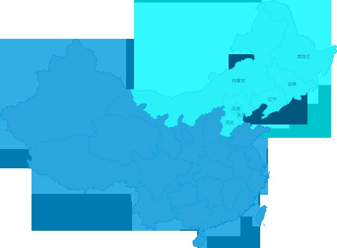 华北区域范围图