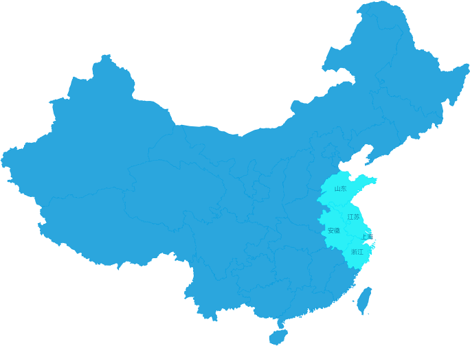 华东区域范围图