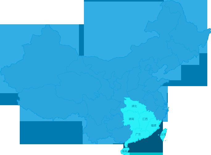 华南区域范围图