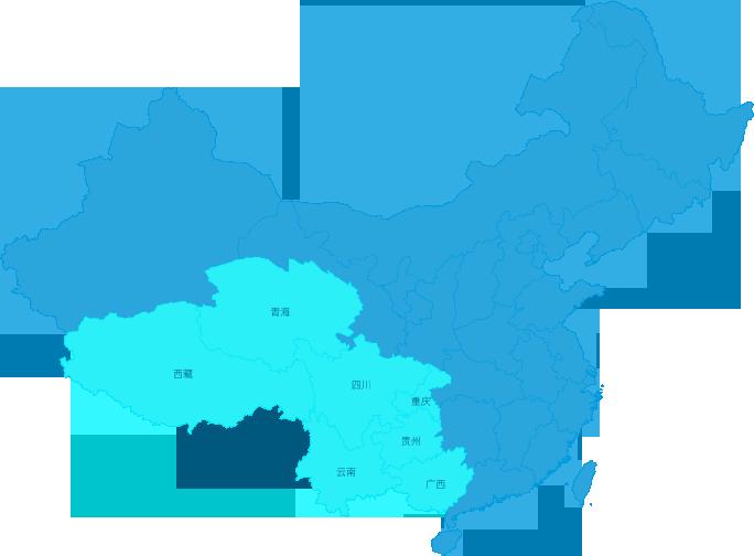 西南区域范围图